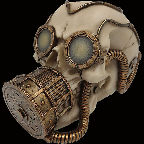 Mechanical Respirator steampunk skull