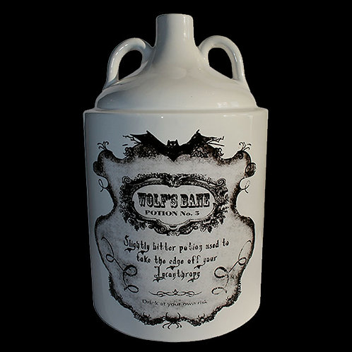 Wolf's Bane Bottle potion No 5 vintage style label supernatural lycanthropy gothic wiccan alternate