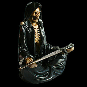 Eternal Servitude Grim Reaper Letter Opener old bones showing threw a threadbare cloak