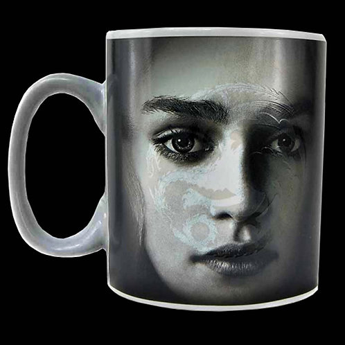 "Official HBO Game of Thrones Heat Change Mug Daenerys Targaryen 3 Headed Dragon ""I will take what is mine with fire & blood"""