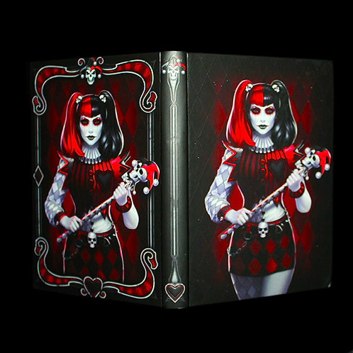 Dark Jester Journal, Notebook, Diary, Hardback, plain paper, ribbon bookmark