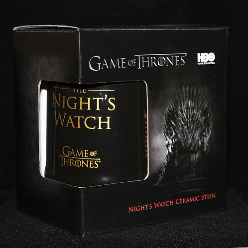 The Night's Watch Ceramic Stein, Officially Licenced HBO Game of Thrones Merchandise, Ultimyth Steins
