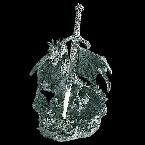Oath of the Dragon letter opener dark gothic dragon