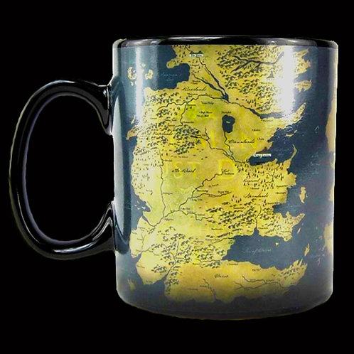 Official HBO Game of Thrones Heat Change Mug All Men Must Serve All Men Must Die Map of westeros Essos