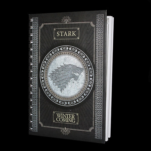 A5 wiro Notebook Stark, Officially licensed HBO Game of Thrones Merchandise, Lined Journal Ultimyth