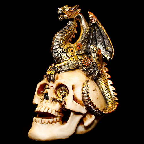 Dragon's Grasp Steampunk skull