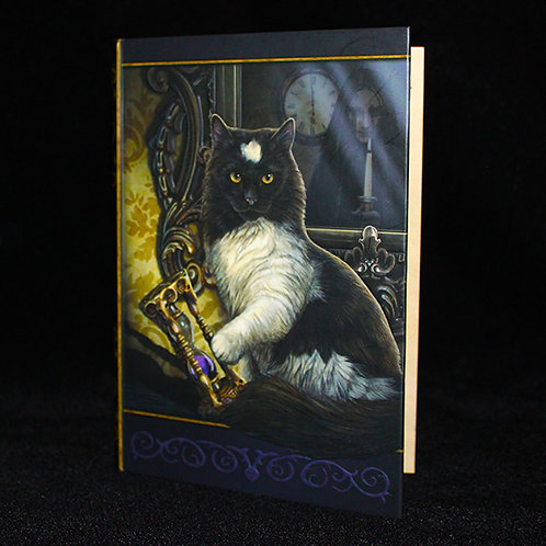 Time's Up Journal, notebook, Cats, Witches, Wiccan, Pentagram, book of shadows