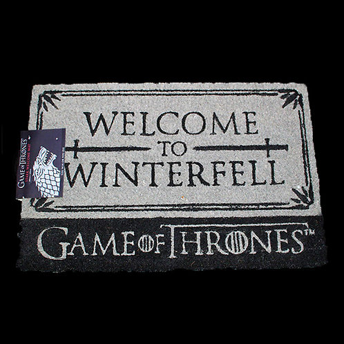 Welcome to Winterfell Officially Licenced HBO Game of Thrones doormat, House Stark, Ultimyth