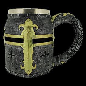 Crusader Tankard Dark knights helmet middle ages medieval helmet armour