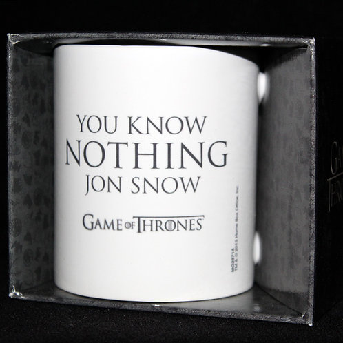 You Know Nothing Jon Snow Mug Officially Licenced HBO Merchandise, Boxed Game of Thrones mug Ultimyth