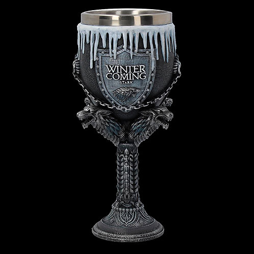 Official HBO Game of Thrones House Stark Goblet Removable insert for ease of cleaning