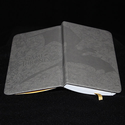 A6 Premium Notebook Soaring Dragon, Officially Licenced HBO Game of Thrones Merchandise, a dragon soaring on the outer book