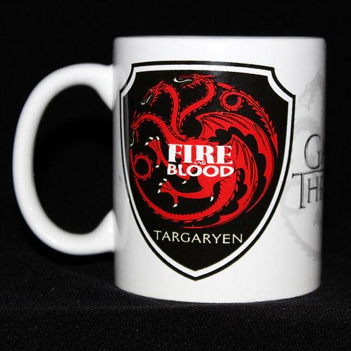 Targaryen Mug Officially Licenced HBO Merchandise, Game of Thrones Targaryen sigil Mug Ultimyth