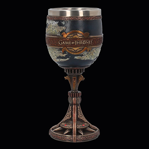 Official HBO Game of Thrones The Seven Kingdoms Goblet removable insert for easier cleaning
