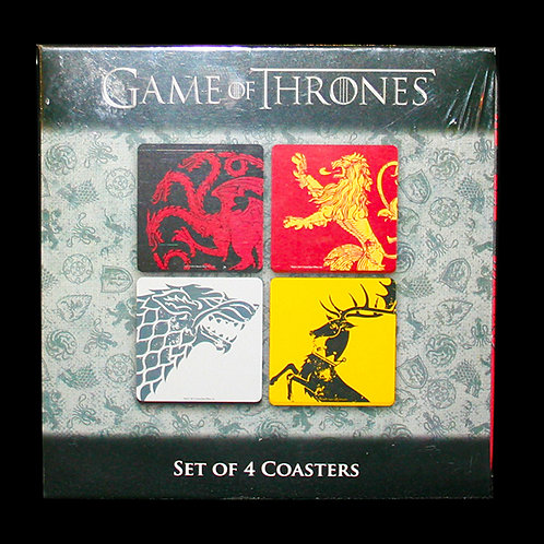 Official HBO Game of Thrones Set of 4 House Sigil Coasters
