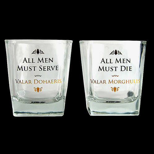 Official HBO Game of Thrones Collectable Set of two Tumbler glasses
