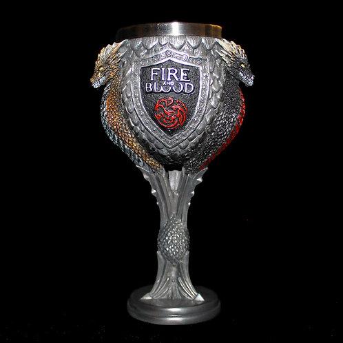 Targaryen Goblet, Official HBO Game of Thrones, Daenerys, Viserion, Drogon, Rhaegal