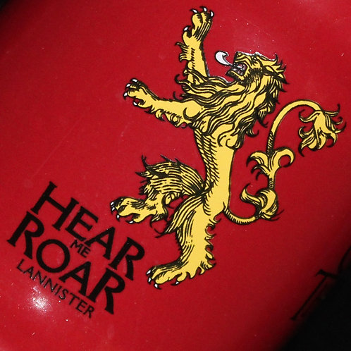 Lannister Ceramic Stein, Officially Licenced HBO Game of Thrones Merchandise, Lannister House Sigil and words