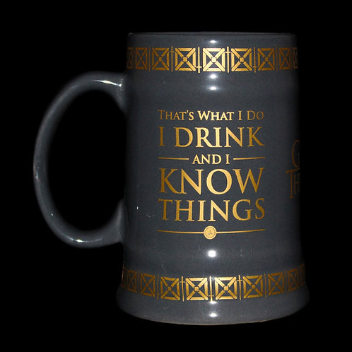 I drink and I Know Ceramic Stein Officially Licenced HBO Game of Thrones Merchandise, Tyrion Lannister, Kings Landing