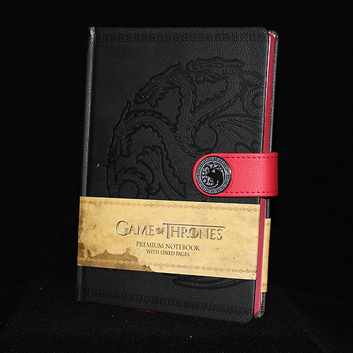 A5 Premium Clasp Notebook Targaryen, Officially Licensed HBO Game of Thrones Merchandise, Ultimyth, Season 8