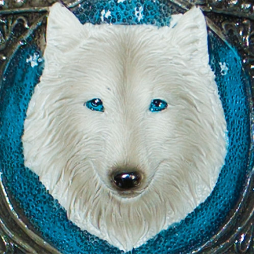 Ghost Wolf Goblet bright blue eyes