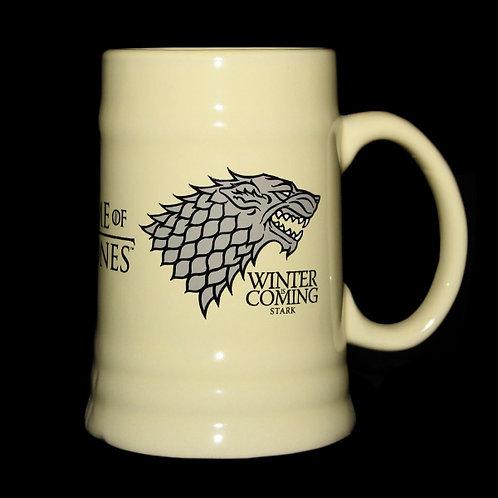 Stark Ceramic Stein, Officially Licenced HBO Game of Thrones Merchandise, House Stark stein, Ultimyth