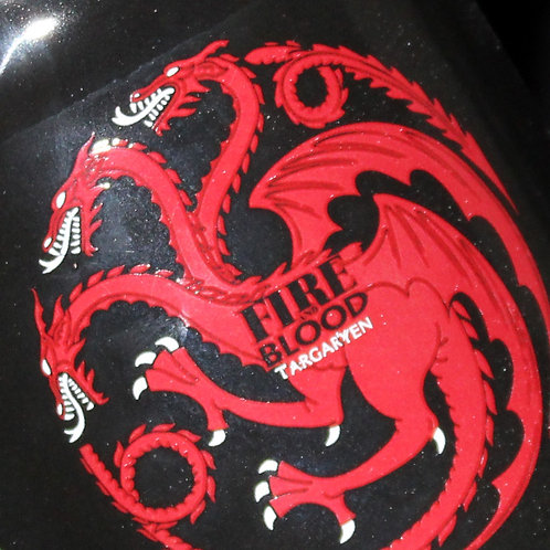 Targaryen Ceramic Stein, Officially Licenced HBO Game of Thrones Merchandise, House Sigil and words Fire and Blood