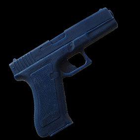 Glock Pistol Dense urethane rubber allows realistic handling