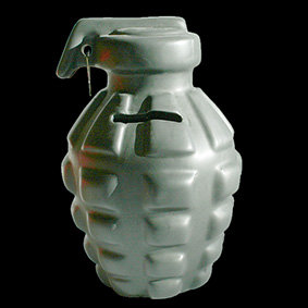 Grenade Money Box ceramic novelty grenade money box