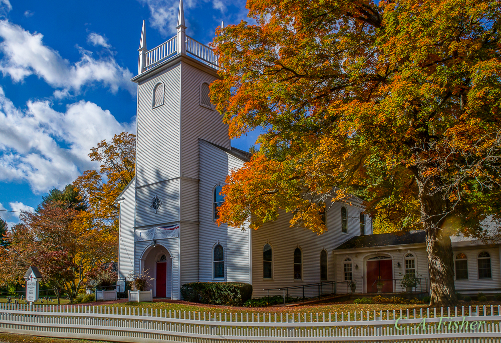 Old Saint Andrew's Church in Fall