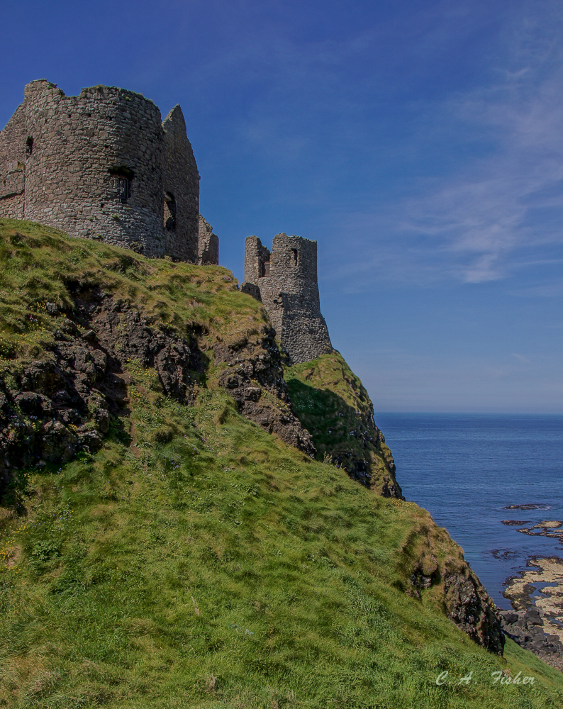 Cliff View of Dunluce Castle