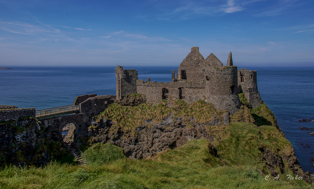 Long View of Dunluce Castle