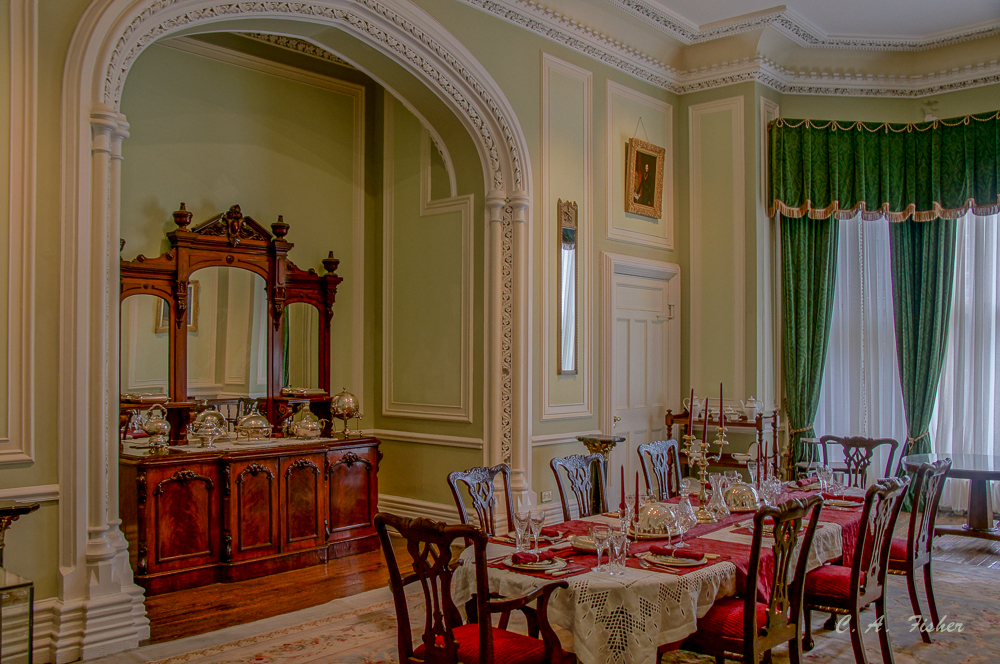 Kylemore Castle Dining Room Detail