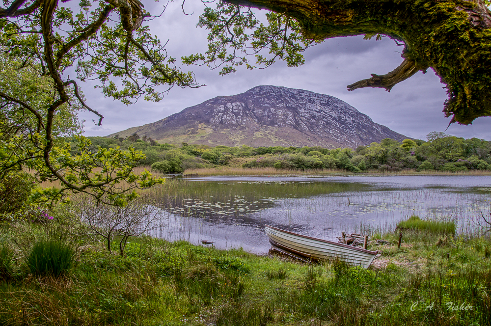 Boat on Lake near Kylemore