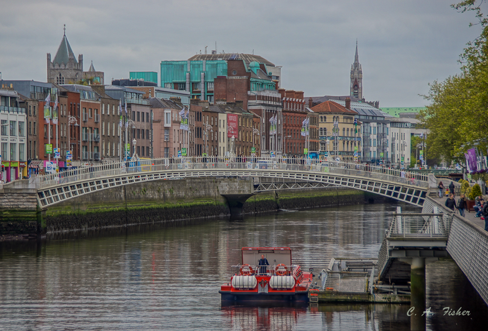 Foot Bridge Over The River Liffey