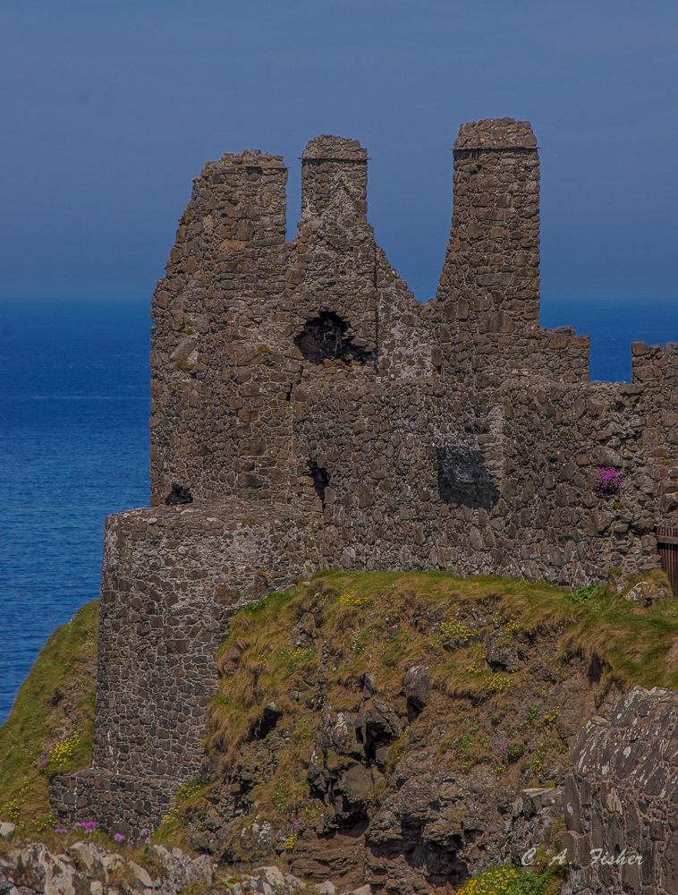 Dunluce Castle Chimneys