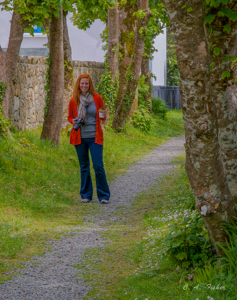 Colleen on Church Path