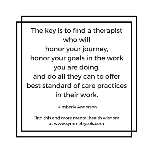 tips for finding a therapist, from Kimberly Anderson