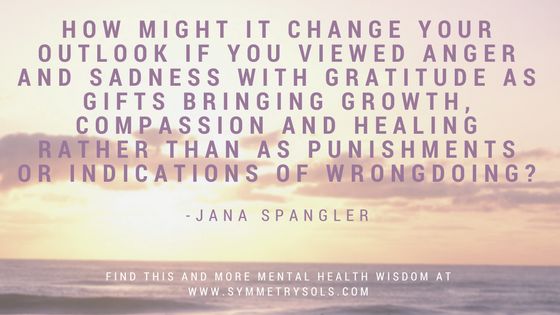 anger and sadness quote, from Jana Spangler