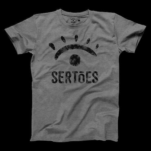 Camiseta Sertões - Cinza Mescla - Logo preta
