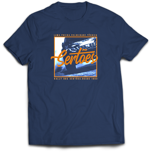 Camiseta azul -Lama Poeira Velocidade Técnica