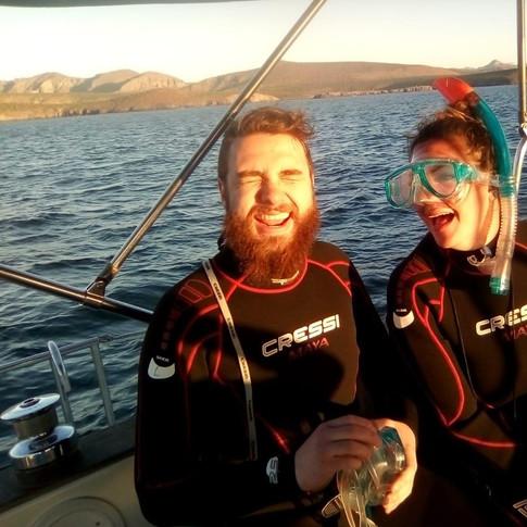 Listos para snorkelear