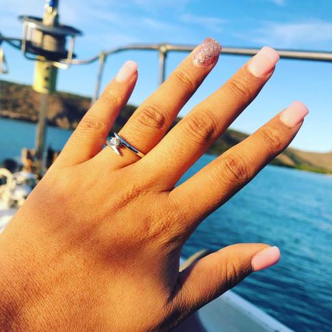 Propuesta de matrimonio a bordo