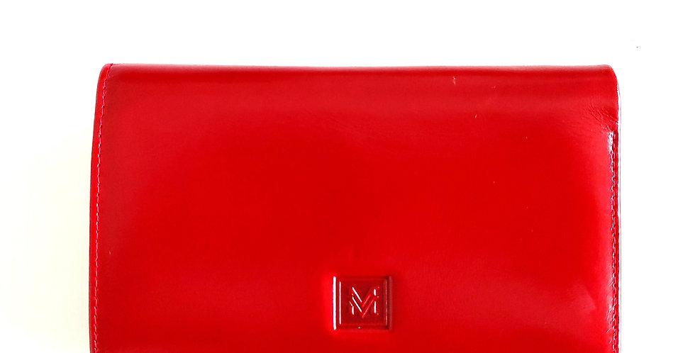 Portfel VerMari skórzany czerwony większy
