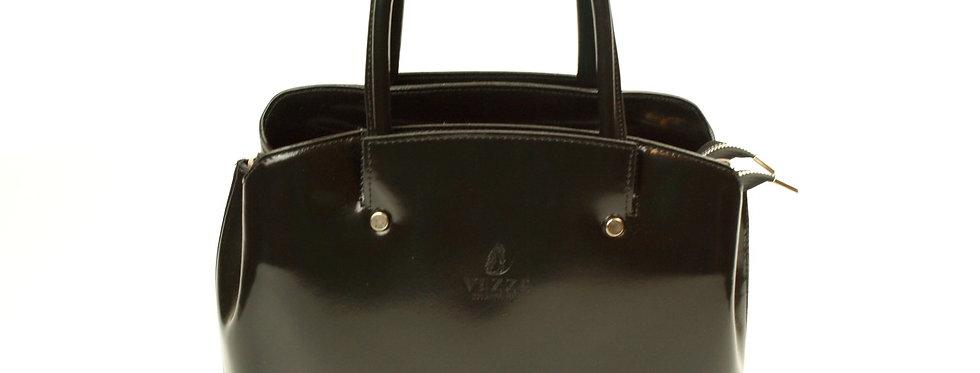 Luksusowy kuferek skórzany VEZZE czarny