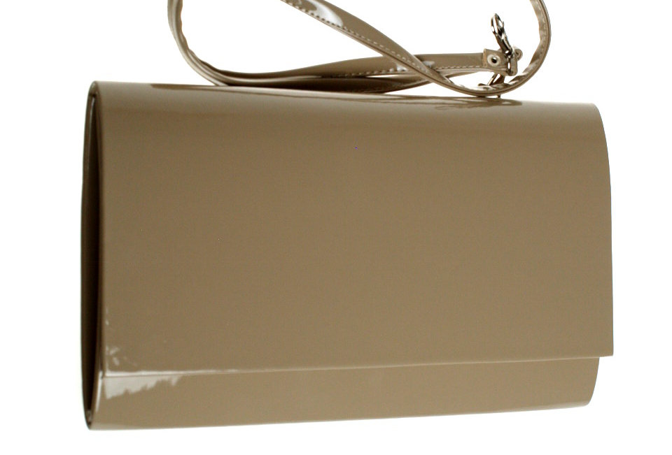 Kopertówka wizytowa lakierowana SAPAR beżowa