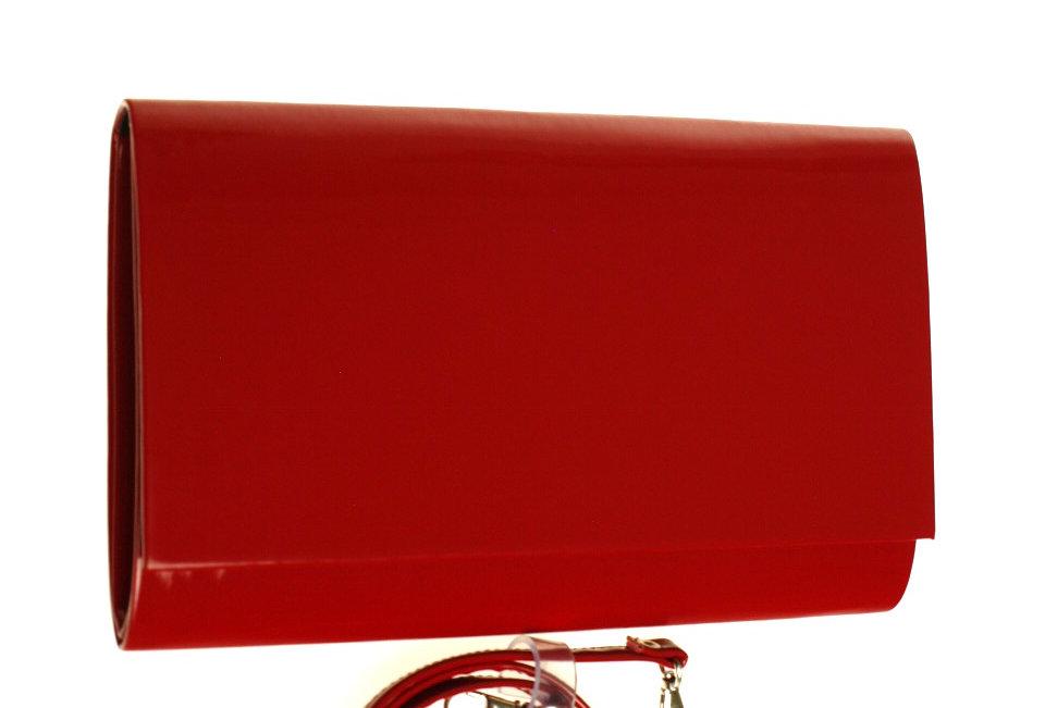 Kopertówka wizytowa lakierowana SAPAR czerwona