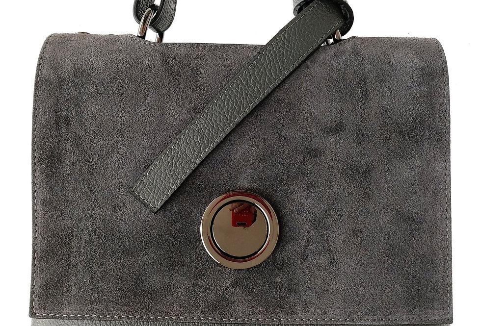 Luksusowy kuferek skórzany VEZZE stalowy
