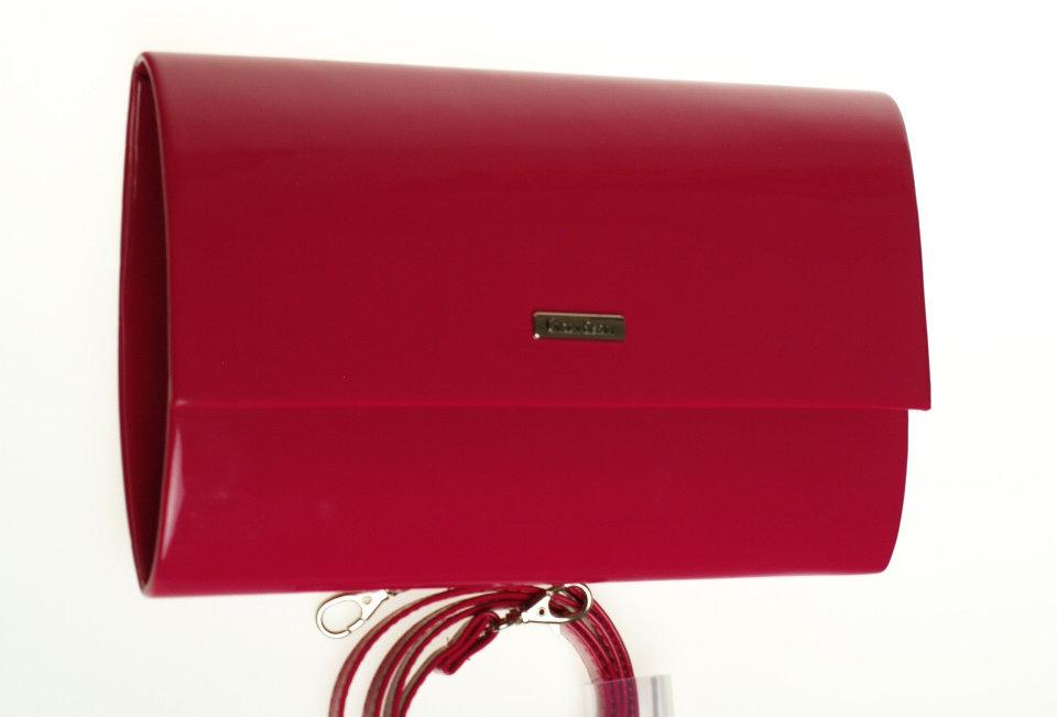 Kopertówka Carla Berry lakierowana różowa