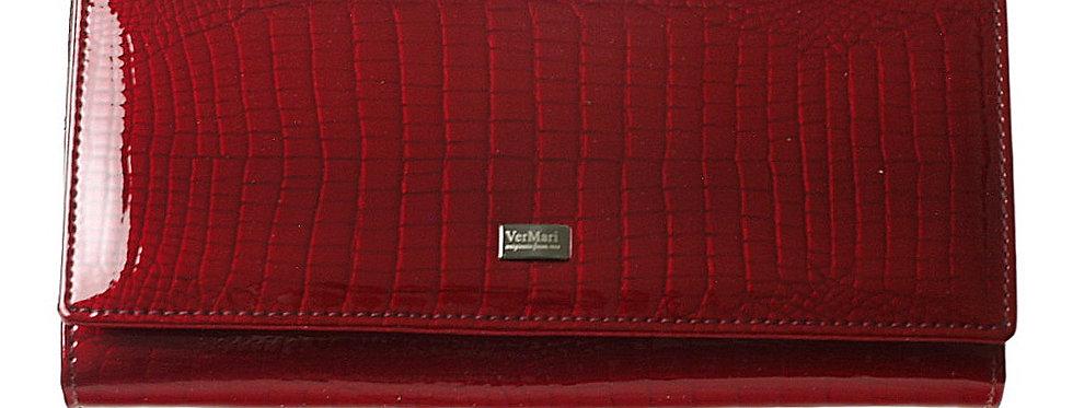 Portfel damski VERMARI lakierowany czerwony